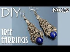 Macrame Tree Earrings Tutorial No1【マクラメ編み】 - YouTube
