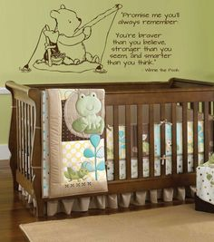 Classic pooh wall decal - fishing horizontal by wildgreenrose.etsy.com