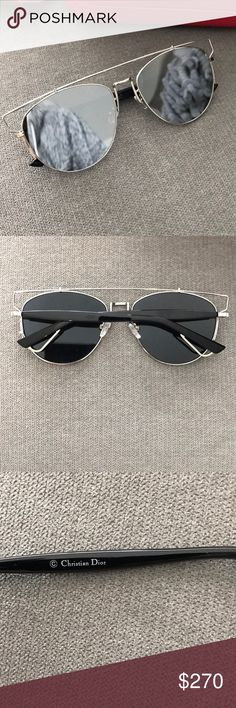 Dior sunglasses New, no defects. Perfect condition. Lost the original box, but I can replace it with red Carolina Herrera one! Christian Dior Accessories Glasses
