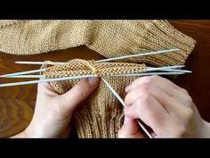 Вязание простых носков - YouTube
