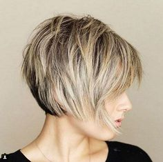 Great all over shape and layering. Messy Short Layered Haircuts with Bangs Great all over shape and layering. Messy Short Layered Haircuts with Bangs Short Bob Hairstyles, Short Hairstyles For Women, Hairstyles Haircuts, Cool Hairstyles, Haircut Short, Short Hair Cuts For Women Over 50, Short Hair Over 50, 2018 Haircuts, Haircut For Older Women