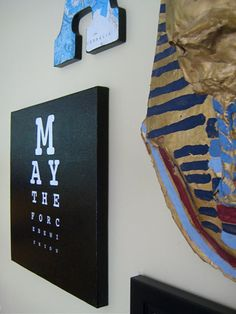 star wars diy wall picture eyechart