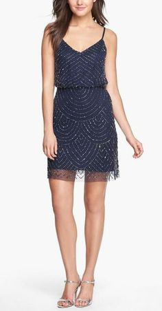 Sparkly! Navy Sequin Dress