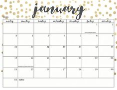 cute printable calendars 2018 monthly free | January 2018 Calendar Cute | 2018 calendar printable