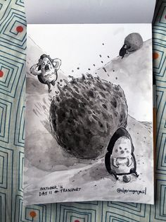 After this incident he left his shitty job (2007) Still fighting with alcoholism... #inktober / #inktober2016 - Day 11 - Theme: #TRANSPORT..............#shade #sketch #eskiz #illustration #illüstrasyon #ink #mürekkep #fırça #brush #october #drawing #çizim #instagood #instaart #art #doodle #dor #bug #scarab #dorbeetle #beetle #shit #baby #worker #bokböceği #bok