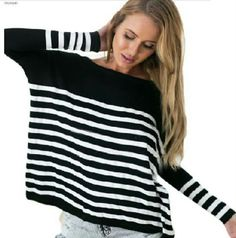 Simple Long Sleeve Striped Loose T-Shirt Color: Black Material: Cotton Closure Type: Pullover Wash&Care: Hand Wash Style: Fashion  Sleeve Length: Long Sleeve Stretch-ability: Little Stretchable Size: L Length: Regular Pattern Type: Stripped Neckline: Crew Neck Sleeve Style: Bat Sleeve Gender: Female  Fabric/Care:  (1) Cotton (2) Hand Washing (3) Crew Neck  Detail In Tile Measurement:  Size: L Bust: 114 Length: 63 Sleeve: 58  Warm Tips:  1. Please Check The Above Detail Measurement To Choose…