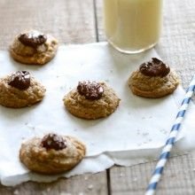 Salted Nutella Peanut Butter Thumbprint Cookies from Lauren's Latest 2