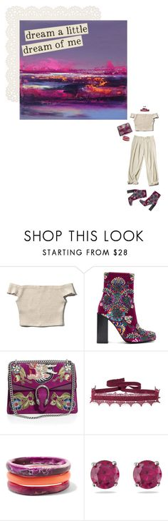 """""""Dreamers  🦄"""" by tiffyg2133 ❤ liked on Polyvore featuring Monki, Abercrombie & Fitch, Jeffrey Campbell, Gucci, Anna Sui, Dinosaur Designs, Kabella Jewelry and Paper Source"""