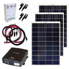 Solar Panels Grape Solar Off-Grid Solar Panel Kit. Lake House Grape Solar Off-Grid Solar Panel Kit Off Grid Solar Panels, Solar Energy Panels, Solar Panels For Home, Best Solar Panels, Solar Energy System, Solar Power, Wind Power, Small Solar Panels, Cost Of Solar Panels