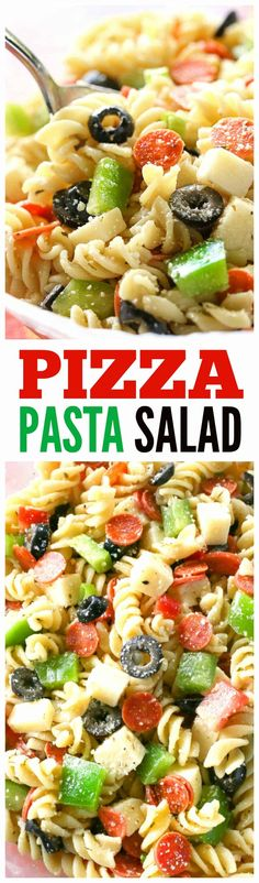 Pizza Pasta Salad – all the flavors of a delicious pizza in a pasta salad. Warme… Pizza Pasta Salad – all the flavors of a delicious pizza in a pasta salad. Warmed up the leftovers with marinara sauce for my kids! the-girl-who-ate-… Pasta Salad For Kids, Salads For Kids, Pizza Pasta Salads, Pasta Salad Recipes, Pasta Dishes, Food Dishes, Kids Dishes, Taco Salads, Veggie Pizza