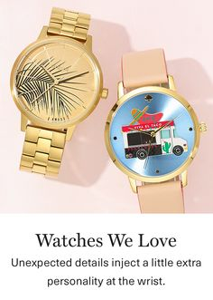 Add a little personality to your wrist with these fashion wataches. *affiliate