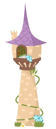 Imágenes del castillo de Rapunzel | Imágenes para Peques Disney Rapunzel, Tangled Rapunzel, Disney Princess, Rapunzel Birthday Party, Tangled Party, Tangled Tower, Princess Cookies, Disney Printables, Clip Art
