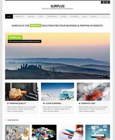 Surplus a super clean and elegant premium wordpress theme for business and portfolio websites.