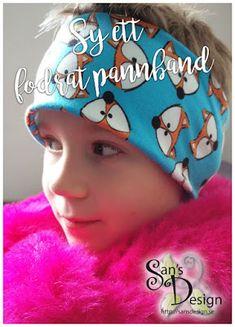 Lär dig att sy ett fodrat pannband! Textiles, Playing Dress Up, Sewing Projects, Sewing Ideas, Crochet Hats, Children, Fabric, How To Wear, Crafts