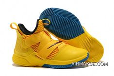 5a555c2e50a Nike LeBron James Soldier 12 Cavs Yellow Black-Blue For Sale