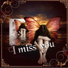 I miss you ~ Fairy Blingee by stina scott