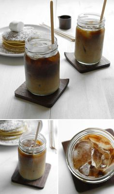 Pancakes and iced coffee // Monosquare