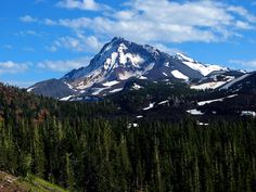 Photo of North Sister in Central Oregon's Three Sisters Wilderness Area.