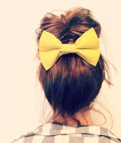 $9.00+ Free shipping Mustard Yellow Head bow