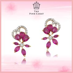 Surprise your loved ones with this Gorgeous Ruby earring. A perfect gift on this festive season. Let her know that how precious she actually is. #HappyDussehra #Dussehra #thepinkcarat #jewellery