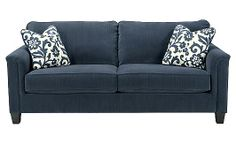 Keendre - Indigo Sofa - A sofa in blue... so versatile -- a Coastal look... a cool, Contemporary look.  I'm going to try both.