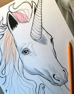 Free Unicorn Printable Coloring Page | This magical free coloring page will bring out the sparkle in anyone.