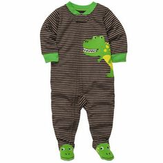 Carter's Boys Dino Embroidered Coverall with Foot Art Toddler Pajamas, Boys Pajamas, Carters Baby Boys, Toddler Boys, Toddler Stuff, Kid Stuff, Baby F, Baby Kids, Carters Clothing