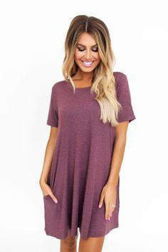 Wine Pocket Dress - Dottie Couture Boutique