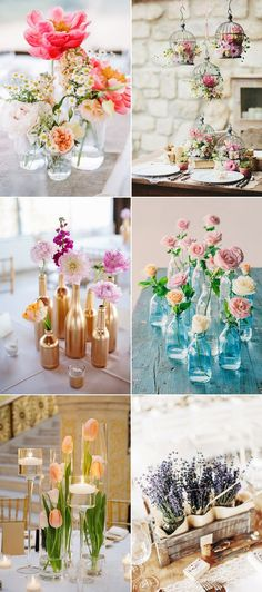 Large fresh floral centerpieces are gorgeous but may take a huge chunk out of your décor budget. Sharing a little bit of your personality and story with each and every table has become a popular trend in wedding decor.