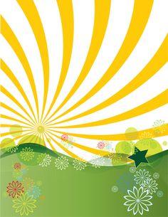 Free Spring Clip Art | Sunshine Landscape