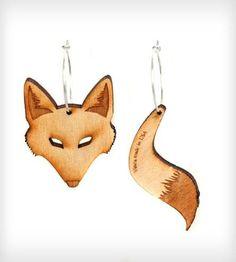 Fox/Tail Hoop Earrings