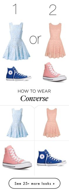 """""""which is better?"""" by cheyscrazy on Polyvore featuring Alex Perry, Yumi, Converse, women's clothing, women, female, woman, misses and juniors"""