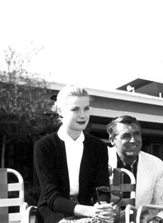 goldenageestate: A handout photo provided by the Las Vegas News Bureau shows Grace Kelly & Cary Grant at the Sahara in Las Vegas, 11 April 1955