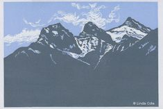 My art print honors Canmore's Three Sisters mountains Three Sisters, Mountain Landscape, Tattoo Ideas, My Arts, Office Supplies, Gift Ideas, Mountains, Art Prints, Printed