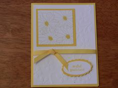 Yellow Daisy Stampin' Up! card