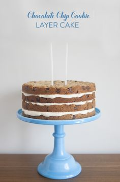 Chocolate Chip Cookie Layer Cake: Step by Step Instructions