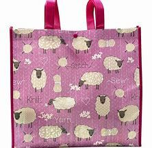 Tacony Stitch & Knit Sheep Reusable Tote Bag Crochet Accessories, Sheep, Knit Crochet, Reusable Tote Bags, Stitch, Knitting, Full Stop, Tricot, Breien