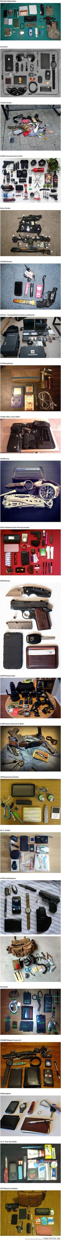 Things people carry…every day carries.