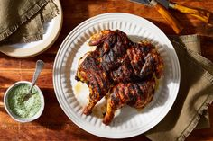 Spatchcock Chicken, Tandoori Chicken, Sauce Recipes, Chicken Recipes, Marinated Chicken, Grilled Meat, Sweet And Spicy, Food 52, Grilling Recipes