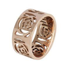 Aliexpress.com: Comprar Elegante ahueca hacia fuera el oro rosa Camelias anillo de acero de titanio de la personalidad de la moda anillos ee.uu. tamaño 5 6 7 8 9 10 de anillo de la cúpula fiable proveedores en Honest suppliers