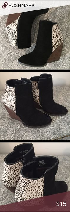 Very Volatile Booties NWOT never worn outside of the house! Very Volatile Shoes Ankle Boots & Booties