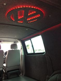 VW Transporter T5, fully carpeted with mood lights. Done by Bus Stop VW