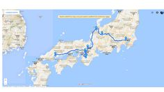 Map of the trip made with Google Maps!  Great Japan Trip 2018: The plan!    Check it and share your opinion!