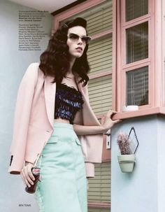 Photos of Meghan Collison by Ben Toms for Vogue Russia, January 2012.  #sunglasses