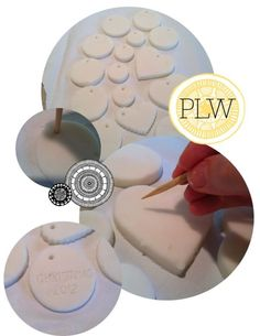 I remember making salt dough ornaments as a kid. This method, using baking soda and cornstarch looks interesting: Dries quicker, smoother and whiter than traditional salt-dough Cups Water 2 Cups Baking Soda 1 Cup Cornstarch Christmas Projects, Holiday Crafts, Crafts To Make, Holiday Fun, Fun Crafts, Crafts For Kids, Arts And Crafts, Christmas Ideas, Noel Christmas
