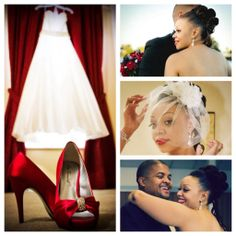 Anniversary Wedding post for #AnotherCuteandClassyEvent couple married in #Melbourne #FL at Front Street Civic Center. #Black #white and #red wedding #color #combination.