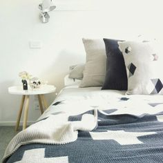 Thread Design Hexagon bedding and Aura Home Throw (my home)
