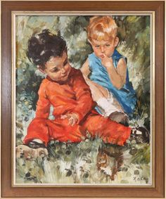Charles Roka (1912-1999) Paintings, Children, Art, Young Children, Art Background, Boys, Paint, Painting Art, Kids