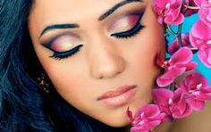 Sure, make-up is part of your life. But your wedding is a one-time event and you can't just wear any make-up. Your make-up should go with your hairstyle, dress, jewelries…You hav… Bride Makeup, Prom Makeup, Wedding Makeup, Bridesmaid Makeup, Gold Eyes, Pink Eyes, Indian Skin Makeup, Bengali Bridal Makeup, Pakistani Bridal