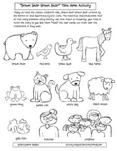 reflections of an early childhood teacher: Brown Bear Brown Bear~ A Free Take Home Activity